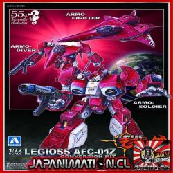 Mospeada Legioss Zeta Conversion Kit 1/72 Aoshima Original Japones