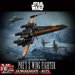 Poe´s X-Wing Fighter 1/72 Star Wars Bandai Model Kit Japones
